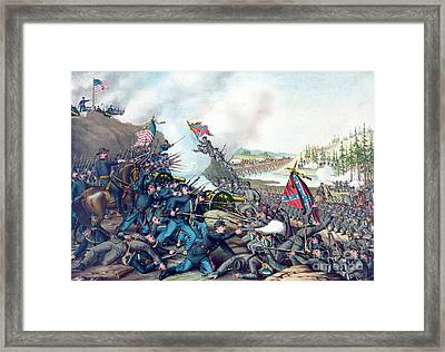 American Civil War, Battle Of Franklin Framed Print by Science Source