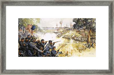 American Civil War Framed Print by James Edwin McConnell