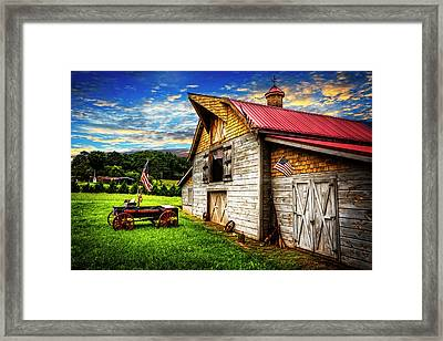 American Country  Framed Print by Debra and Dave Vanderlaan