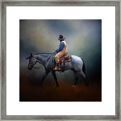 American Cowboy Framed Print by David and Carol Kelly