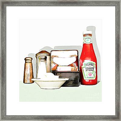 American Diner 20160221 Square Framed Print by Wingsdomain Art and Photography