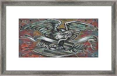 American Eagle Folk Art Framed Print by Nicklos Richards