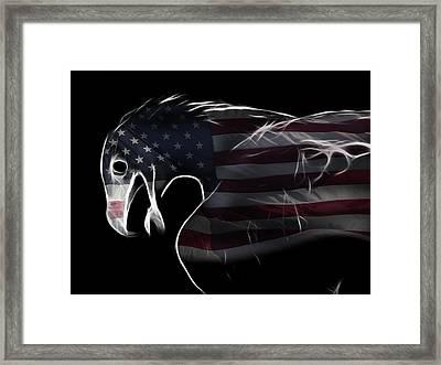 American Eagle Framed Print by Melanie Viola