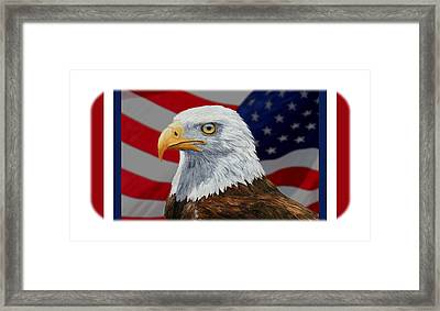 American Eagle Phone Case Framed Print by Crista Forest