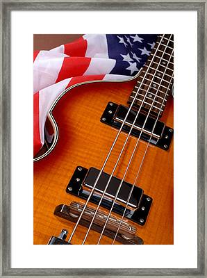 American Electric Rock Guitar Framed Print by Norman Pogson