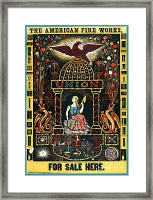 American Fireworks Ad 1872 Framed Print by Padre Art