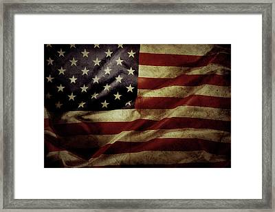 American Flag 5 Framed Print by Les Cunliffe