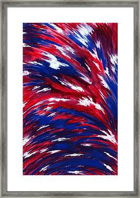 American Flag Framed Print by Michael Vigliotti
