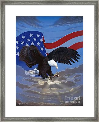 American Freedom Framed Print by Ross Edwards