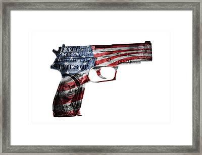 American Gun  Framed Print by Les Cunliffe