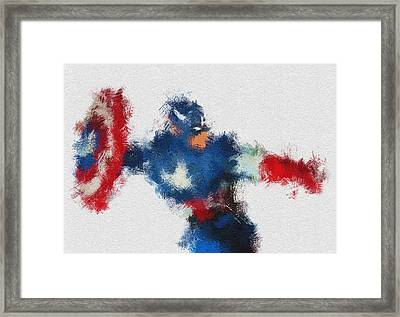 American Hero 2 Framed Print by Miranda Sether