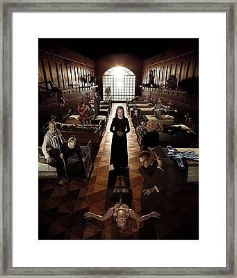 American Horror Story Asylum 2012 Framed Print by Caio Caldas
