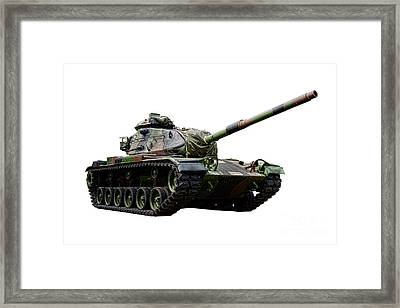 American M60 Patton Tank Framed Print by Olivier Le Queinec