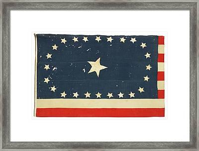 American National Flag Commemorating Arkansas Framed Print by MotionAge Designs