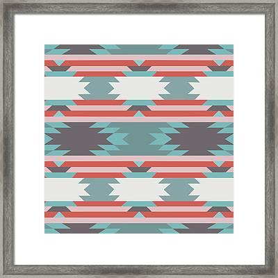 American Native Pattern No. 25 Framed Print by Henrik Bakmann