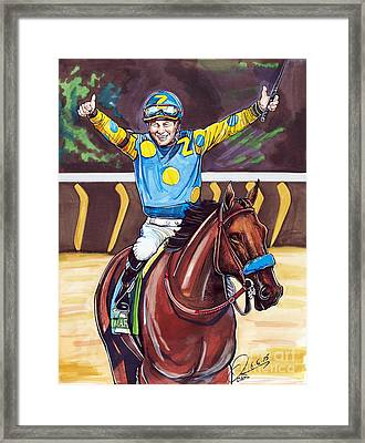 American Pharoah The Triple Crown Framed Print by Dave Olsen