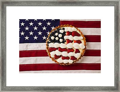 American Pie On American Flag  Framed Print by Garry Gay
