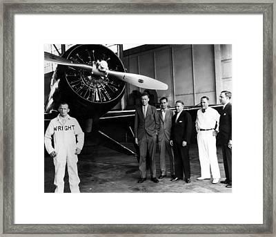 American Pilot Charles Lindbergh Framed Print by Everett