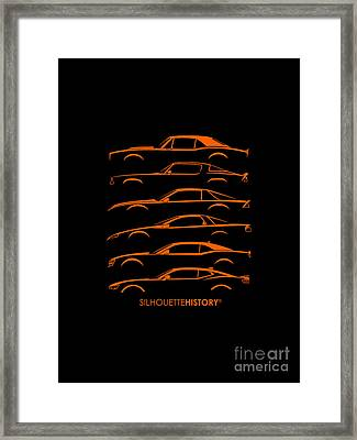 American Pony Silhouettehistory Framed Print by Gabor Vida