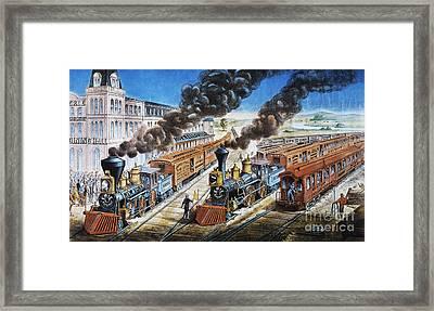 American Railway, 1876 Framed Print by Granger