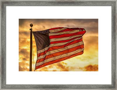 American Sunset On Fire Framed Print by James BO Insogna