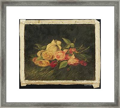 American Title Roses Framed Print by Thomas Addison