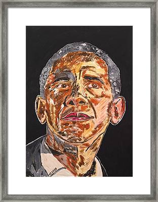 American Framed Print by Valerie Ornstein