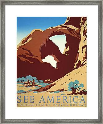 American West Travel 1939 Framed Print by Padre Art