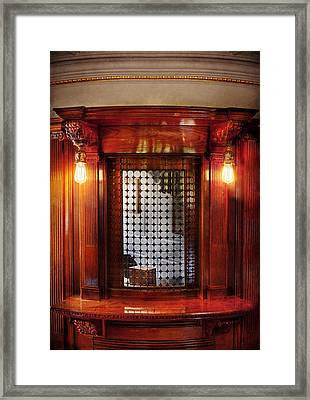 Americana - Movies - Ticket Counter Framed Print by Mike Savad