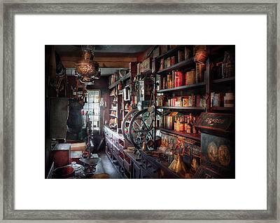 Americana - Store - Corner Grocer  Framed Print by Mike Savad