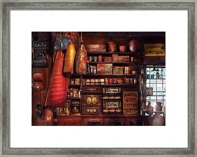 Americana - Store - The Local Grocers  Framed Print by Mike Savad