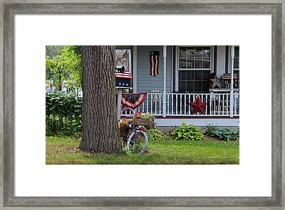 Americana On Main Street Framed Print by Michiale Schneider