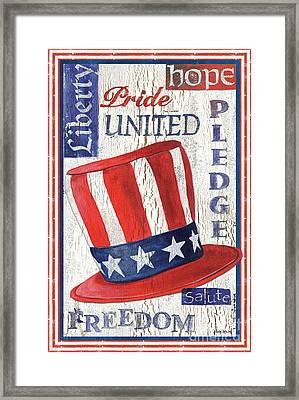 Americana Patriotic Framed Print by Debbie DeWitt