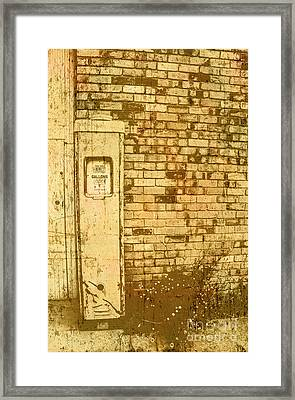 Americana Roadhouse Gas Pump Framed Print by Jorgo Photography - Wall Art Gallery