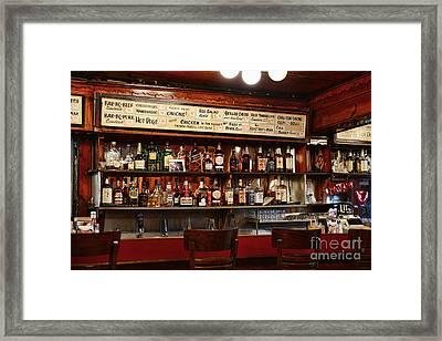 Americana - The Old Man Bar Framed Print by Paul Ward