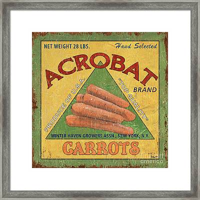 Americana Vegetables 2 Framed Print by Debbie DeWitt