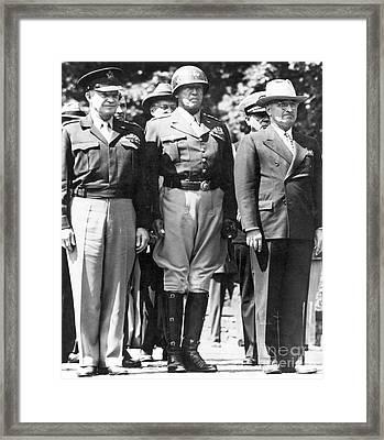 Americans In Berlin, 1945 Framed Print by Granger