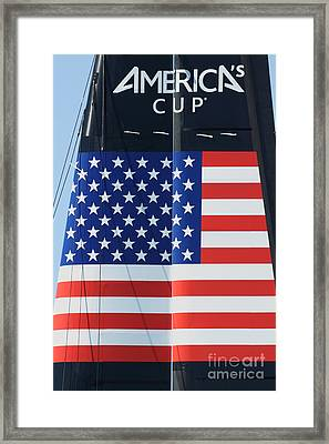 America's Cup In San Francisco - Oracle Team Usa - 5d18364 Framed Print by Wingsdomain Art and Photography