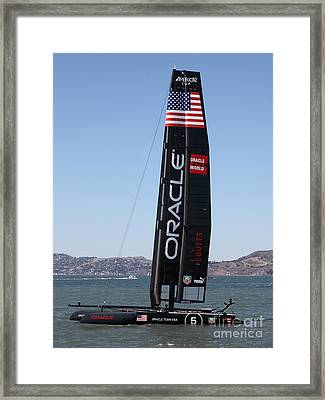 America's Cup In San Francisco - Oracle Team Usa 5 - 5d18246 Framed Print by Wingsdomain Art and Photography