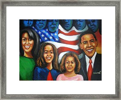 America's First Family Framed Print by Jan Gilmore