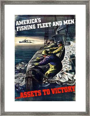 America's Fishing Fleet And Men  Framed Print by War Is Hell Store