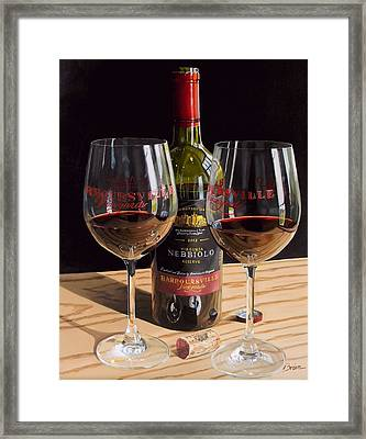 America's Nebbiolo Framed Print by Brien Cole