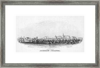 Amherst College, 1863 Framed Print by Granger