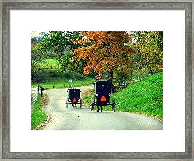 Amish Country In Autumn Ohio Holmes County Framed Print by Charlene Cox