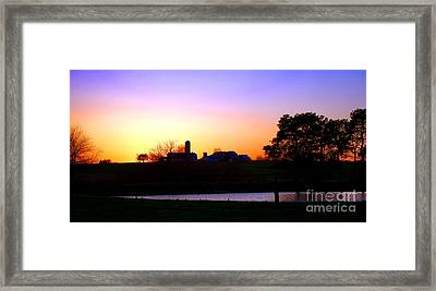 Amish Farm Sunset Framed Print by Olivier Le Queinec