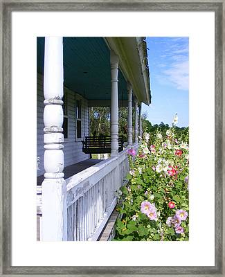 Amish Porch Framed Print by Ed Smith
