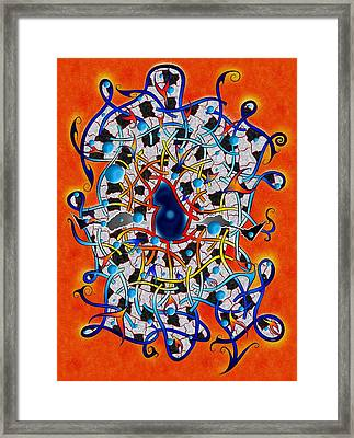 Amistedos V2 - Digital Art Framed Print by Cersatti