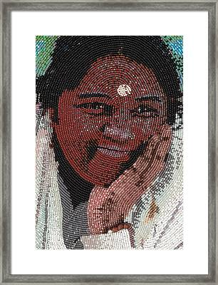 Amma - Close Up Framed Print by Zoe Byrd