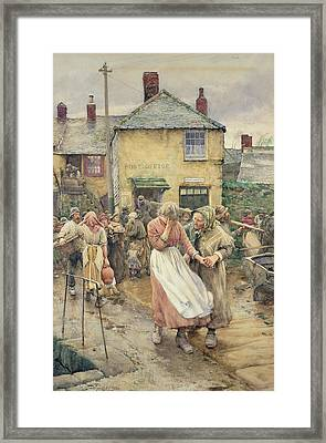 Among The Missing Framed Print by Walter Langley