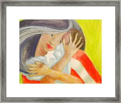 Amor Eterno Framed Print by Mayra  Martinez